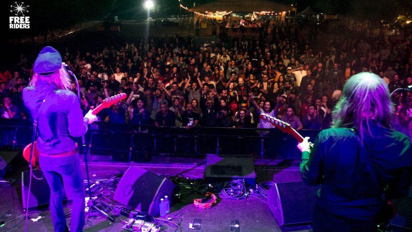 El grupo de rock sueco Imperial State Electric actuando en el Free Riders Festival en Miño, Agosto de 2017
